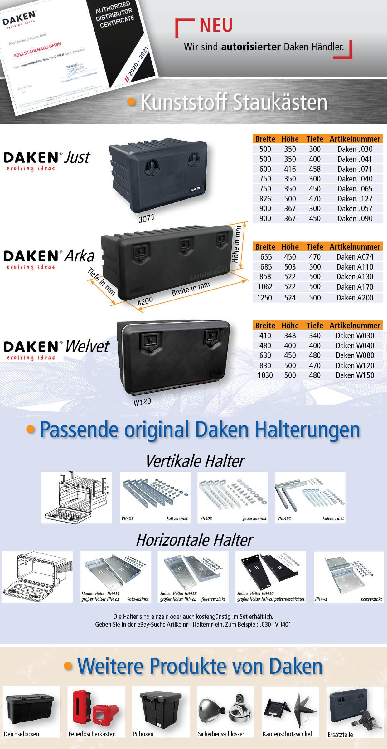 LKW Staukasten Werkzeugkasten Daken J071 Daken Just 600 Staubox 600x416x458mm
