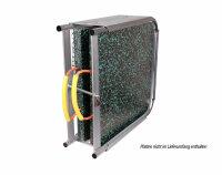 Doppelplattenbox für LAB 50 x 50 x 4 bis 6 cm (ohne Platten) galvanisch verzinkt, Halter für Abstützplatten, Abstützplattenhalter