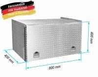 ADE Schubdeckelkasten Alu Riffelblech 800 x 400 x 400 mm,...