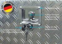 ADE Schubdeckelkasten Alu Riffelblech 1200 x 600 x 600 mm, Werkzeugkasten, Staukasten, Staubox, Unterflurbox