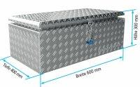 ADE Dachbox Alu Riffelblech 600 x 400 x 300 mm,...
