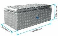 ADE Dachbox Alu Riffelblech 800 x 400 x 300 mm,...