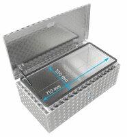ADE Dachbox Alu Riffelblech 800 x 400 x 300 mm, Staukasten, Staubox, Pickup Box