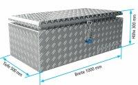 ADE Dachbox Alu Riffelblech 1000 x 500 x 300 mm,...