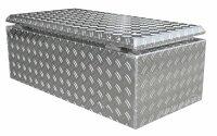 ADE Dachbox Alu Riffelblech 1000 x 500 x 300 mm, Staukasten, Staubox, Pickup Box