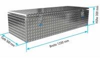 ADE Dachbox Alu Riffelblech 1200 x 500 x 300 mm,...