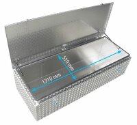ADE Dachbox Alu Riffelblech 1400 x 600 x 400 mm, Staukasten, Staubox, Pickup Box