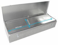 ADE Dachbox Alu Riffelblech 2000 x 700 x 400 mm, Staukasten, Staubox, Pickup Box