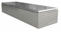 ADE Dachbox Alu Riffelbelch 2400 x 700 x 400 mm, Staukasten, Staubox, Pickup Box