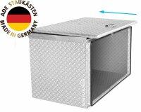 ADE Schubdeckelkasten Alu Riffelblech 800 x 600 x 600 mm,, Werkzeugkasten, Staukasten, Staubox, Unterflurbox