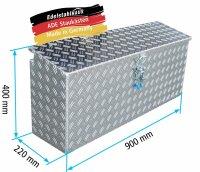 ADE Seitenkasten Alu Riffelblech 900 x 220 x 400 mm,...