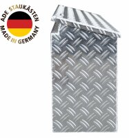 ADE Seitenkasten Alu Riffelblech 1000 x 220 x 400 mm, Staukasten, Staubox, Zubehör Pferdeanhänger