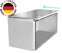 ADE Schubdeckelkasten Edelstahl 1200 x 600 x 600 mm, Werkzeugkasten, Staukasten, Staubox, Unterflurbox