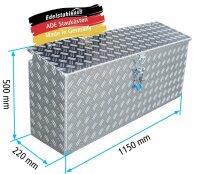 ADE Seitenkasten Alu Riffelblech 1150 x 220 x 500 mm,...