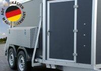 ADE Seitenkasten Alu Riffelblech 1400 x 220 x 500 mm, Staukasten, Staubox, Zubehör Pferdeanhänger