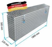 ADE Seitenkasten Alu Riffelblech 1800 x 220 x 500 mm,...
