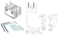 Daken VHL451 - Vertikaler Halter - Mit L- Haltern -  Verzinkt