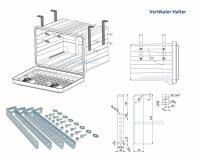 Daken VH401 - Vertikaler Halter - verzinkt