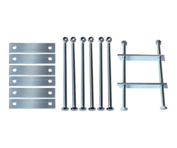 MON2014 - Montagesatz für Deichselbox - 4 Halterungen - Universal Groß
