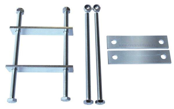 MON2012 - Montagesatz für Deichselbox - 2 Halterungen - Universal Groß