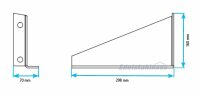 Lokhen HH-LT30 - Horizontale Halter, Befestigung für Waschwassertank SQ30