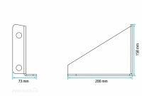 Lokhen HH-LT18 - Horizontale Halter, Befestigung für Waschwassertank SQ18
