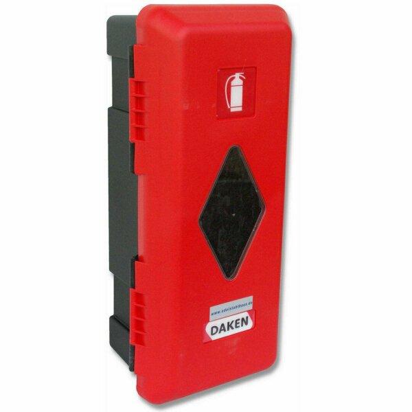 Daken A6+9 - Daken Adamant, Feuerlöscherkasten, Schutzbox, Schutzkasten, Feuerlöscherschrank, Feuerlöscher Box, Stauboxen, für 6 und 9 Kg Feuerlöscher