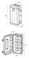 Daken R6 - Daken Regon, Feuerlöscherkasten, Schutzbox, Feuerlöscherschrank, Feuerlöscher Box, Stauboxen, für 6 Kg Feuerlöscher