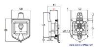 Europlex Verschluss H.45 für LKW Staukasten Welvet W040 - W150, Daken ET-EV45