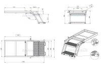Ausziehbare LKW Trittleiter - TK2-102, Trittstufe Wohnmobil, Aufstiegsleiter LKW, LKW Leiter, LKW Einstiegsleiter - Takler