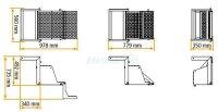 Ausklappbare LKW Trittleiter - TK3-050, Trittstufe Wohnmobil, Aufstiegsleiter LKW, LKW Leiter, LKW Einstiegsleiter - Takler
