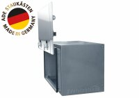 ADE Busdeckelkasten Edelstahl, Deckel poliert 1200 x 600 x 600 mm, Werkzeugkasten, Staukasten, Staubox, Unterflurbox
