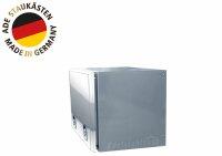ADE Busdeckelkasten Edelstahl, Deckel poliert 1000 x 600 x 600 mm, Werkzeugkasten, Staukasten, Staubox, Unterflurbox