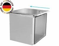 ADE Schubdeckelkasten Edelstahl 600 x 500 x 600 mm, Werkzeugkasten, Staukasten, Staubox, Unterflurbox