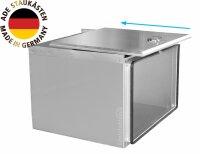 ADE Schubdeckelkasten Edelstahl 600 x 400 x 400 mm, Werkzeugkasten, Staukasten, Staubox, Unterflurbox