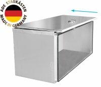 ADE Schubdeckelkasten Edelstahl 1000 x 500 x 600 mm, Werkzeugkasten, Staukasten, Staubox, Unterflurbox