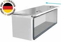 ADE Schubdeckelkasten Edelstahl 1000 x 400 x 400 mm, Werkzeugkasten, Staukasten, Staubox, Unterflurbox