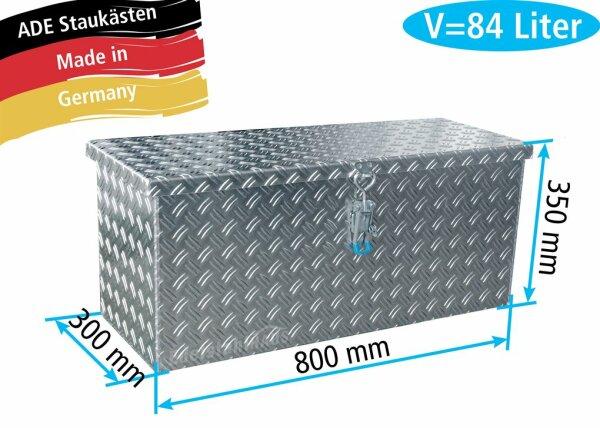 ADE Deichselbox 800x300x350mm Alu Riffelblech - D5A28R080-080-30-35