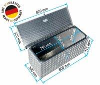 ADE Deichselbox 800x300x350mm Alu Riffelblech -...
