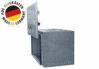 ADE Busdeckelkasten Edelstahl 600 x 600 x 600 mm, Werkzeugkasten, Staukasten, Staubox, Unterflurbox