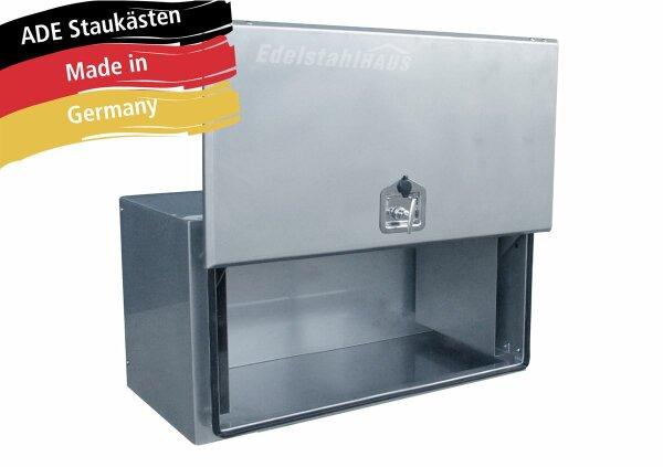 ADE Busdeckelkasten Edelstahl 1000 x 500 x 500 mm, Werkzeugkasten, Staukasten, Staubox, Unterflurbox