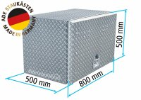 ADE Busdeckelkasten aus Alu Riffelblech 800 x 500 x 500...