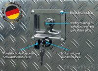 ADE Busdeckelkasten aus Alu Riffelblech 600 x 500 x 500 mm, Werkzeugkasten, Staukasten, Staubox, Unterflurbox