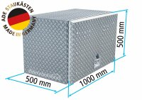 ADE Busdeckelkasten aus Alu Riffelblech 1000 x 500 x 500...