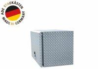 ADE Busdeckelkasten aus Alu Riffelblech 1000 x 500 x 500 mm, Werkzeugkasten, Staukasten, Staubox, Unterflurbox