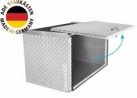 ADE Schubdeckelkasten Alu Riffelblech 800 x 500 x 500 mm,...