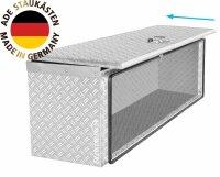 ADE Schubdeckelkasten Alu Riffelblech 700 x 360 x 350 mm, Werkzeugkasten, Staukasten, Staubox, Unterflurbox