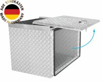 ADE Schubdeckelkasten Alu Riffelblech 500 x 350 x 400 mm,...