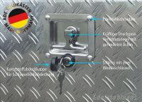 ADE Schubdeckelkasten Alu Riffelblech 1000 x 500 x 500 mm, Werkzeugkasten, Staukasten, Staubox, Unterflurbox