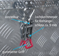 2x Spannverschluss aus Edelstahl inkl. Haltehaken,...